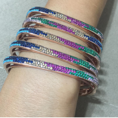 Jenny Multi Colour Stones Bangles